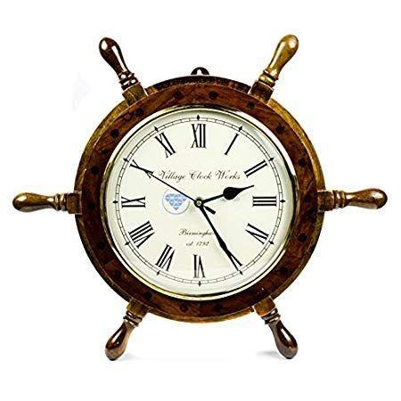 Nautical Wall Clocks Beachfront Decor Nautical Wall Clock Clock Nautical Clocks