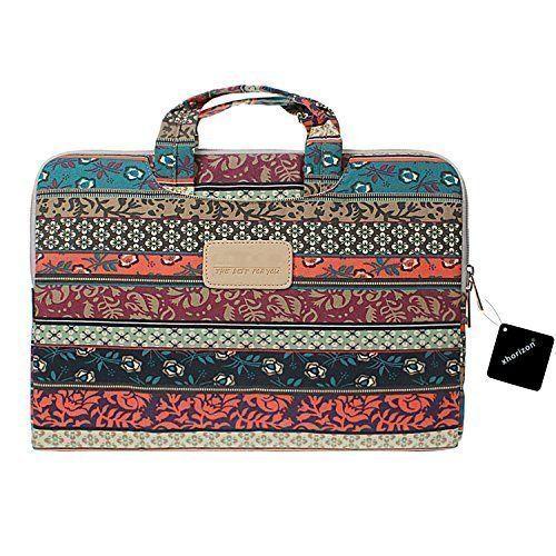 b9edab31b39 Plemo 15-15.6 Inch Bohemian Style Laptop Sleeve Case Bag for MacBook Pro…