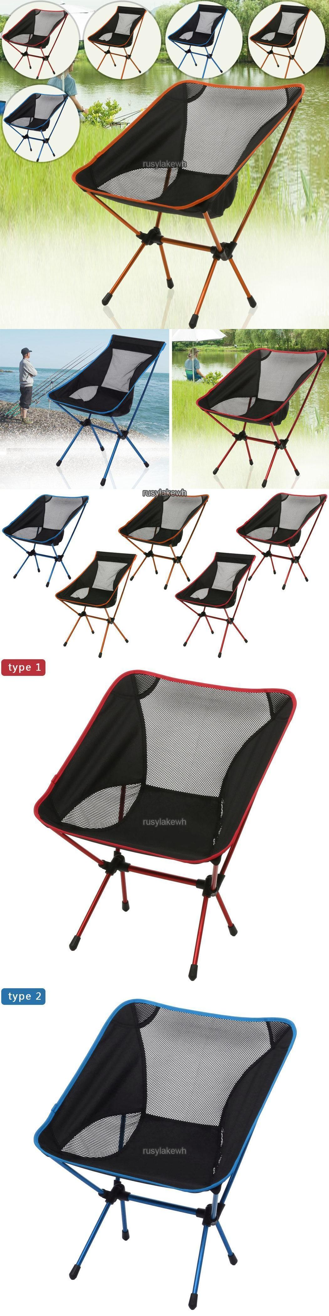 Portable Folding Camping Stool Chair Fishing Outdoor Garden Bbq