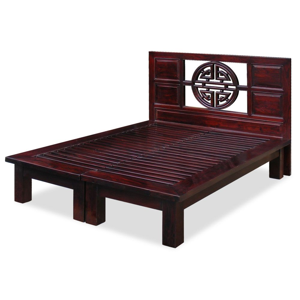Kyomi asian style queen bed