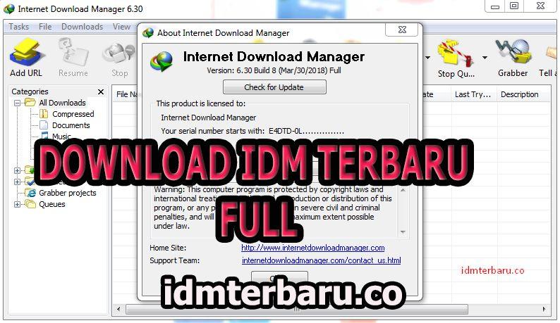 download idm terbaru tanpa serial number dan registrasi
