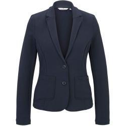 Photo of Tom Tailor Women's structured blazer, blue, plain, size L Tom TailorTom Tailor