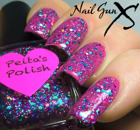 Peita's Polish Razza Mattazz over Zoya Areej