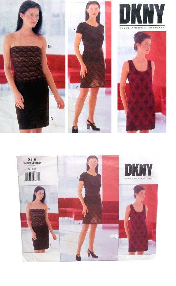 Pattern, Vogue 2115, DKNY 2115 Pattern, Donna Karan New York, Dress ...
