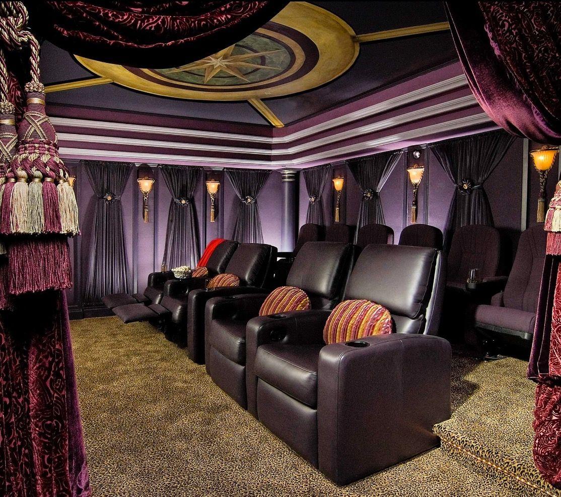 Purple, Black & Gold Woman's Cave Movie Theater