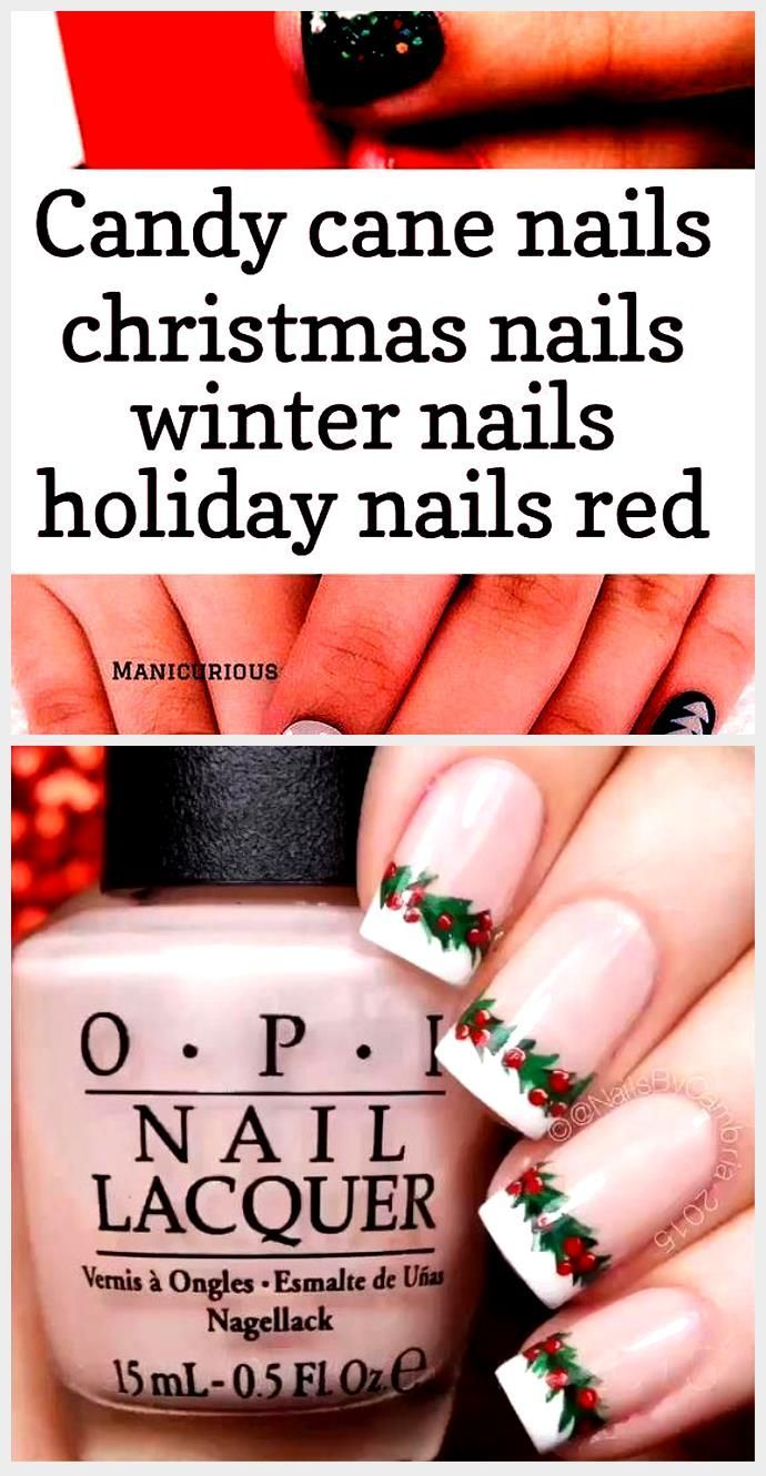 Candy cane nails Christmas nails winter Holiday nails Christmas winter #Candy ..., #Candy #cane #Christmas #Holiday #nails #Winter