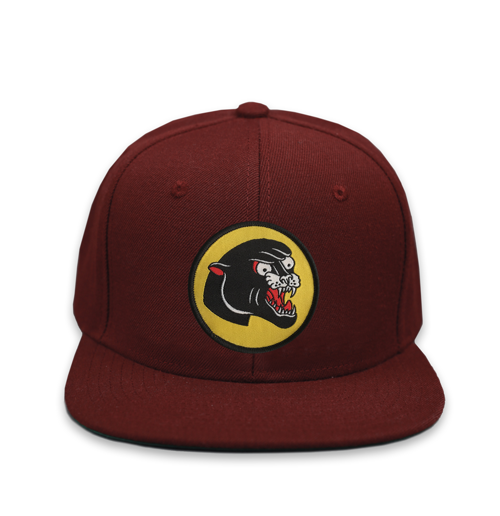 Burgundy 'Panther' Snapback – Few and Far Collective