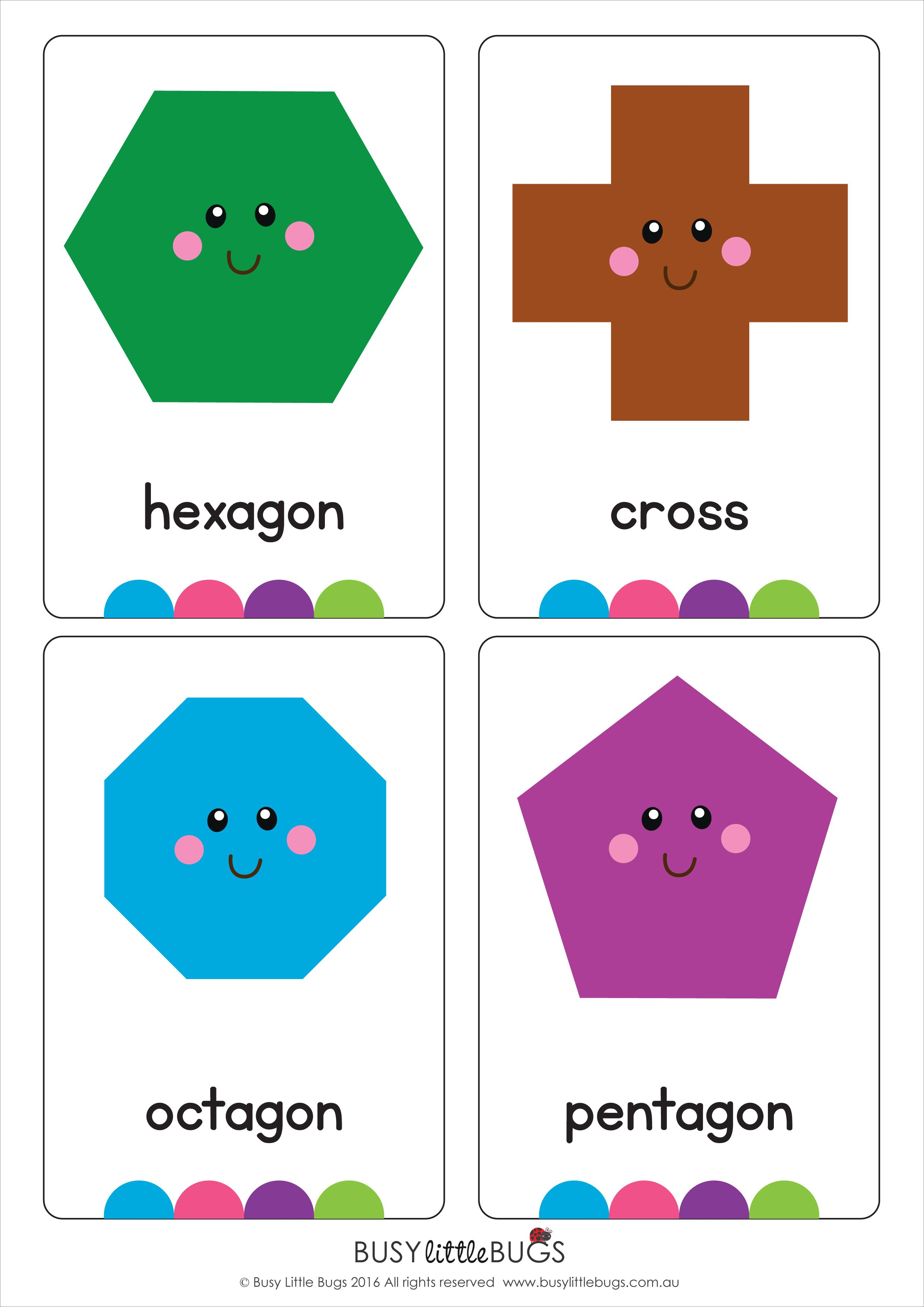 Crazy image in printable shapes flash cards