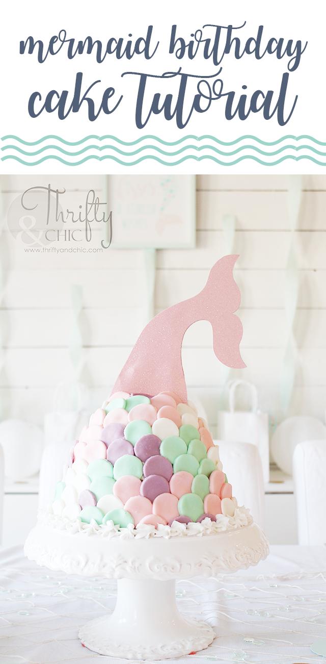 DIY Mermaid Birthday Party Decor and Mermaid Birthday Cake Tutorial