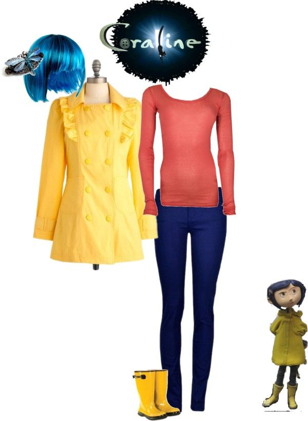I Still Think You Should Be The Girl On The Salt Bottle But You Would Be A Cool Coraline Too Wendy Felts Rader Coraline Costume Monster High Costume Coraline