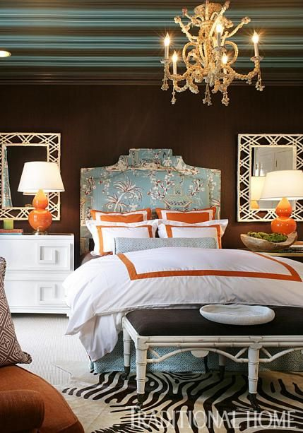 Brilliant Blue And Brown Home Decor Bedroom Luxury Bedroom Design Turquoise Room
