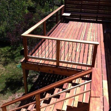 Best Redwood Deck Roots Construction Deck House Styles Porch 640 x 480