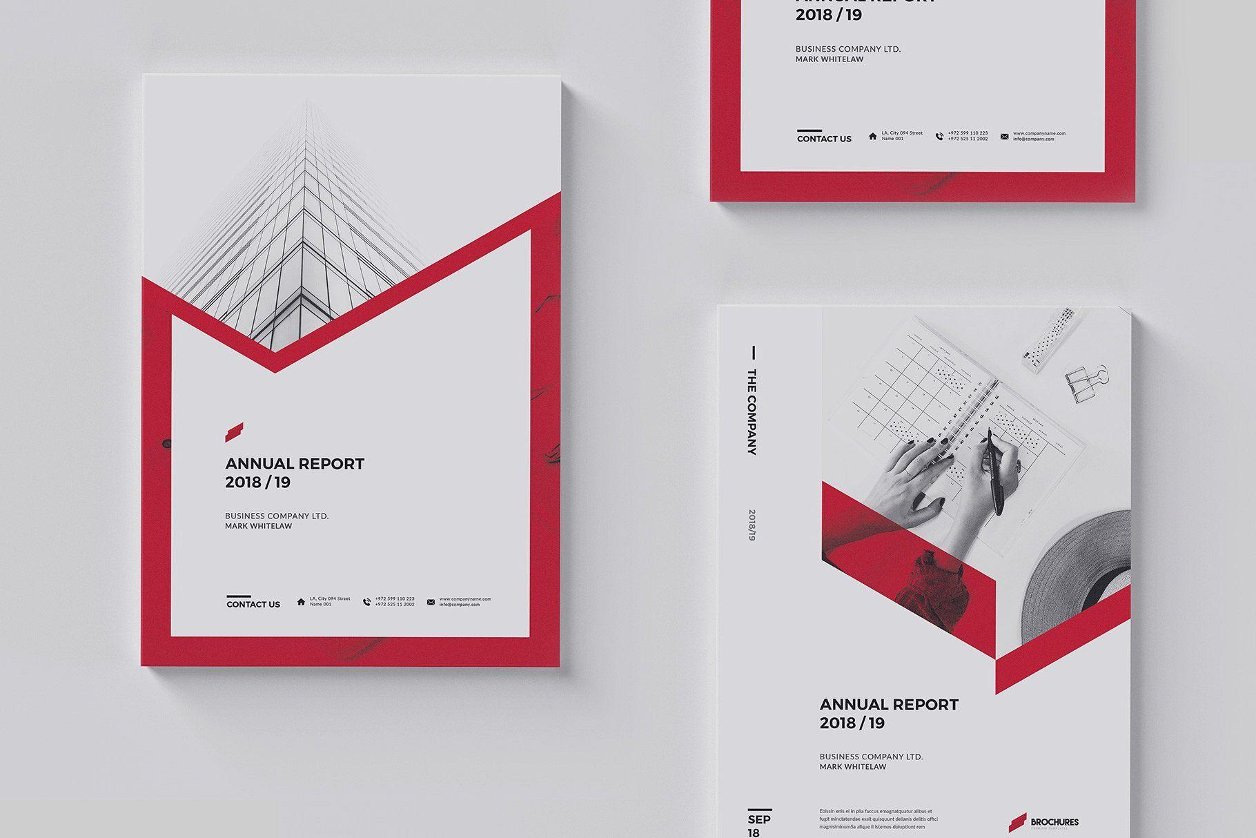 Sharp Annual Report Brochure Design Template Annual Report