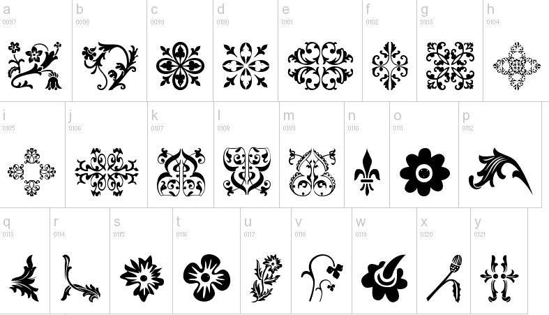 Flower Dingbat Fonts Free Printables And Fonts Pinterest Fonts