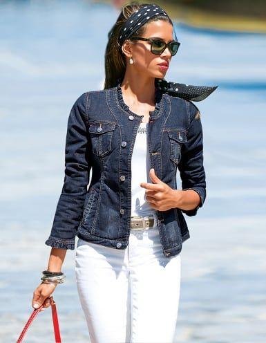Madeleine jeansjacke ruschen