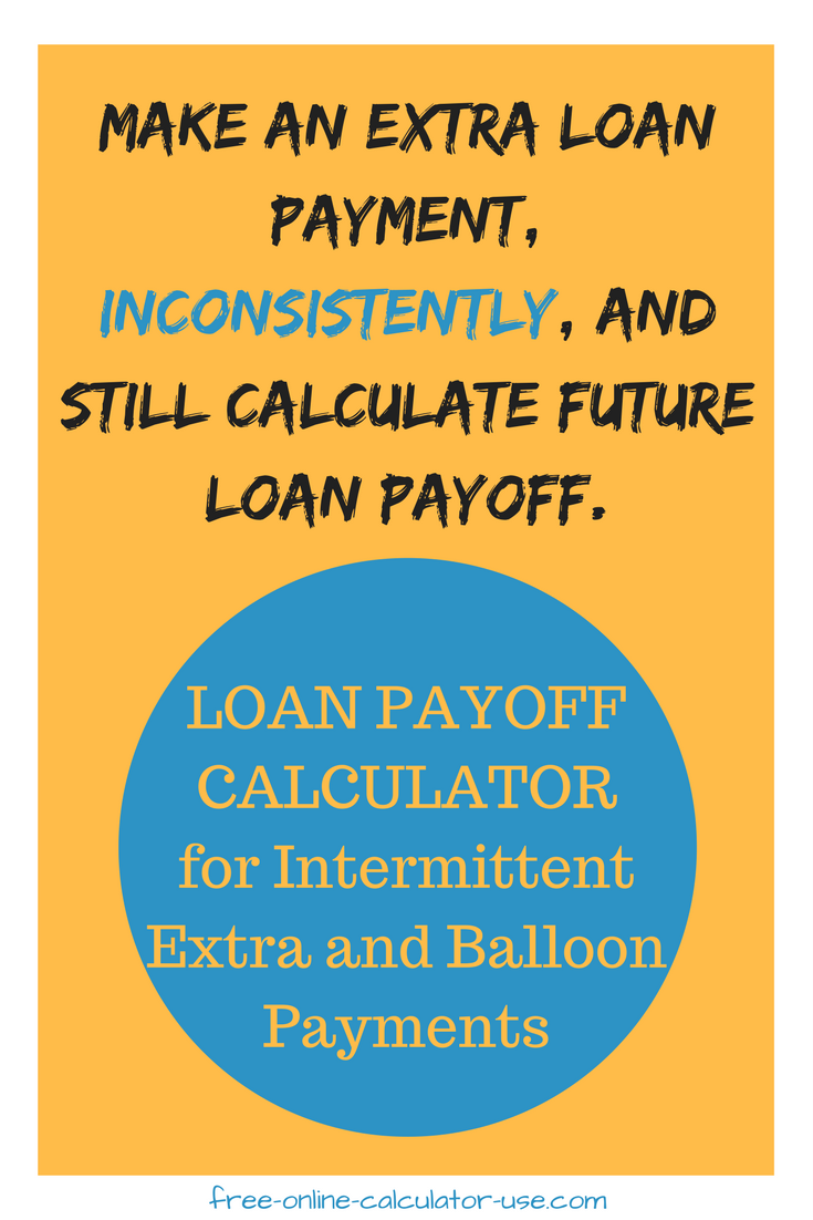 loan pay off calculator for irregular extra and balloon payments