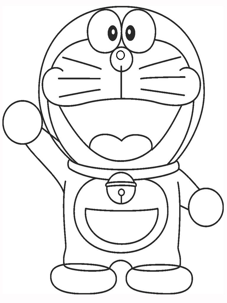 Doraemon Cartoon Coloring Pages