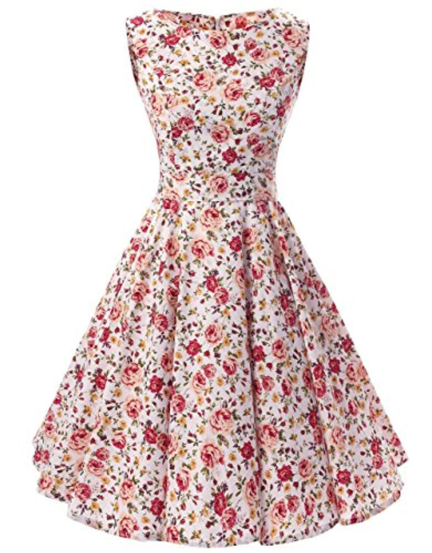Ensnovo 50s Vintage Style Rockabilly Swing Picnic Evening Party ...