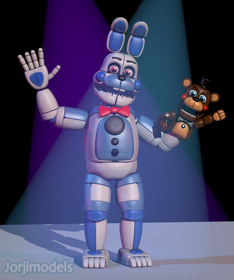 Our Friends And I Fnaf: Funtime Bonnie And FredFred By Jorjimodels.deviantart.com