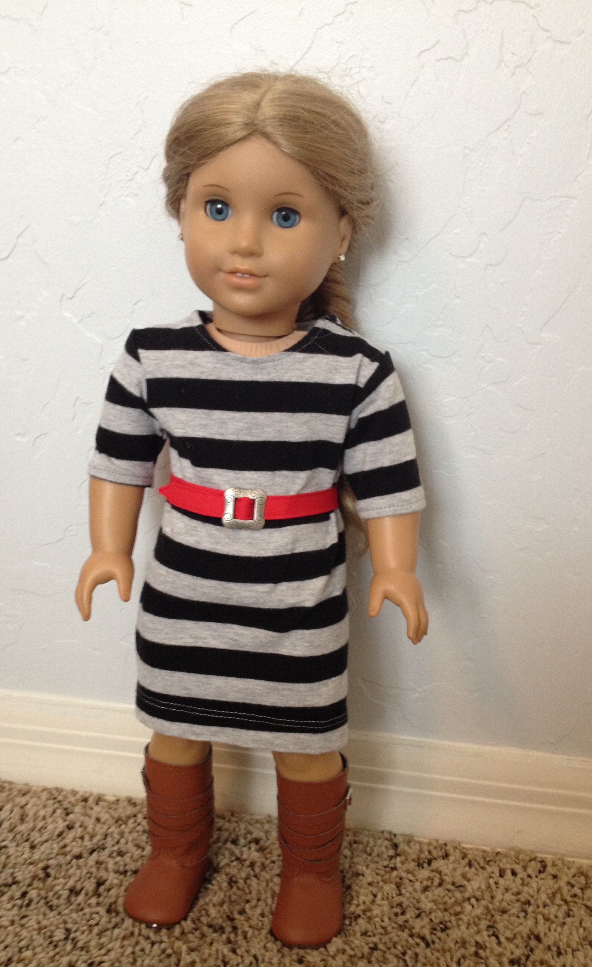 c7c1bd05eed3 American Girl Doll Basic Knit Dress Pattern and Tutorial