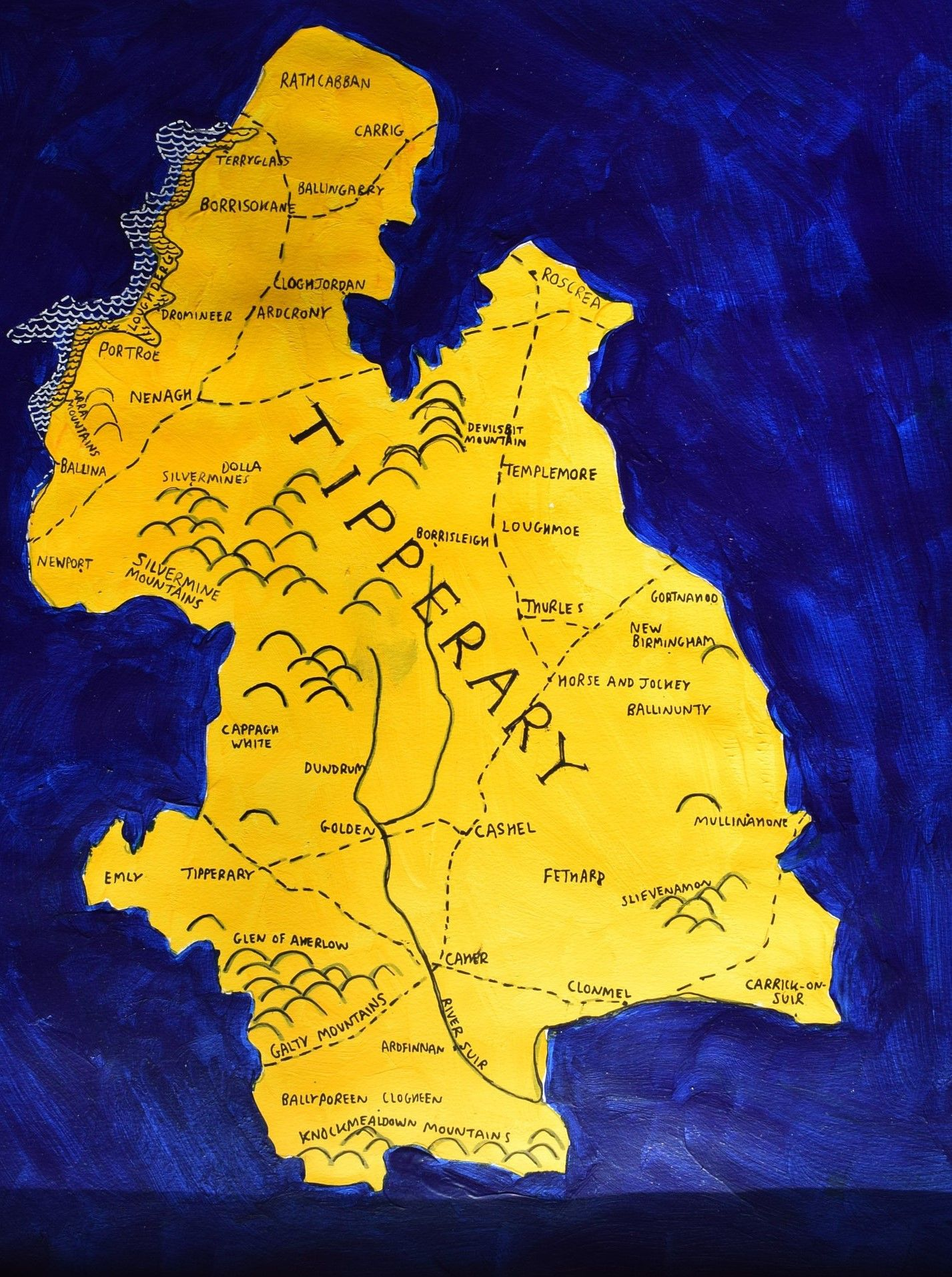 Tipperary map wall art in 2018   Irish County Maps   Pinterest   Map ...