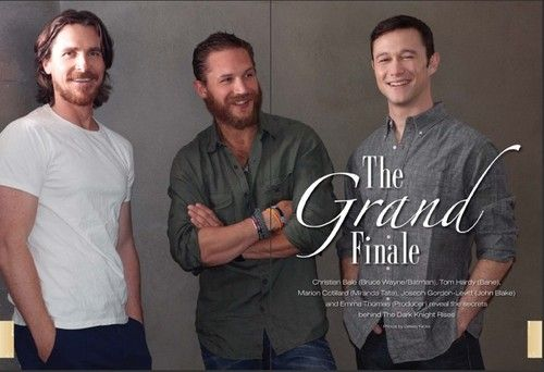 Christian Bale(Batman) Tom Hardy(Bane) Joseph Gordon Levitt(John Blake) - tom-hardy Photo
