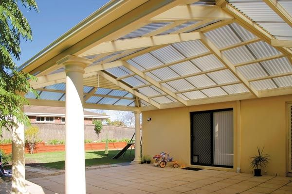 Patio Roof with Polycarbonate Panels POLYCARBONATE ROOF SHEETING