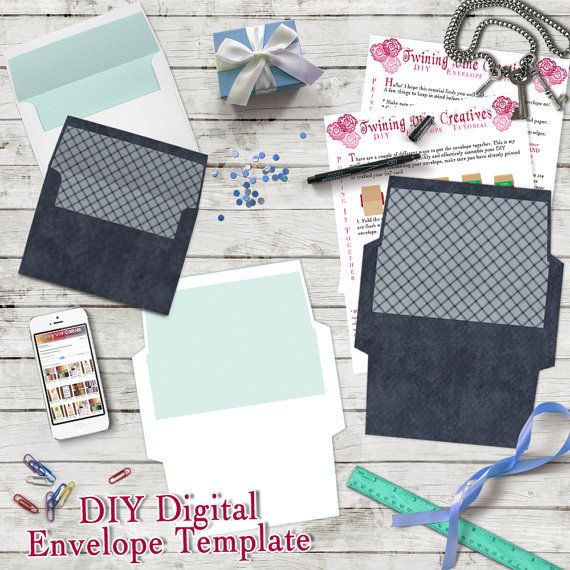 Diy Envelope Template, A7 5X7 Envelope Template, Digital Download