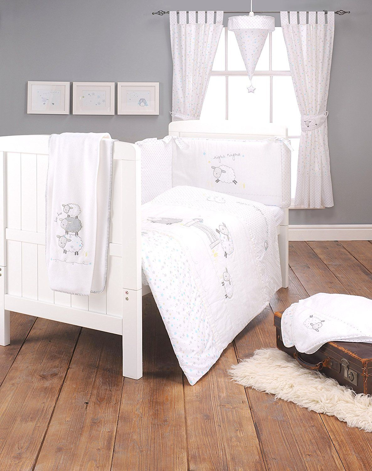 silvercloud counting sheep 3 piece bedding set nursery accessories