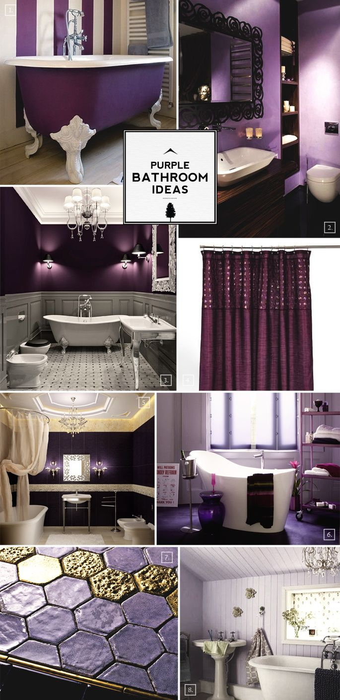 Color Guide Purple Bathroom Ideas And Designs Purple Bathrooms - Plum towels for small bathroom ideas