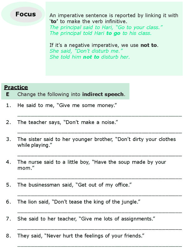 Grade 6 Grammar Lesson 13 Direct And Indirect Speech 5 English