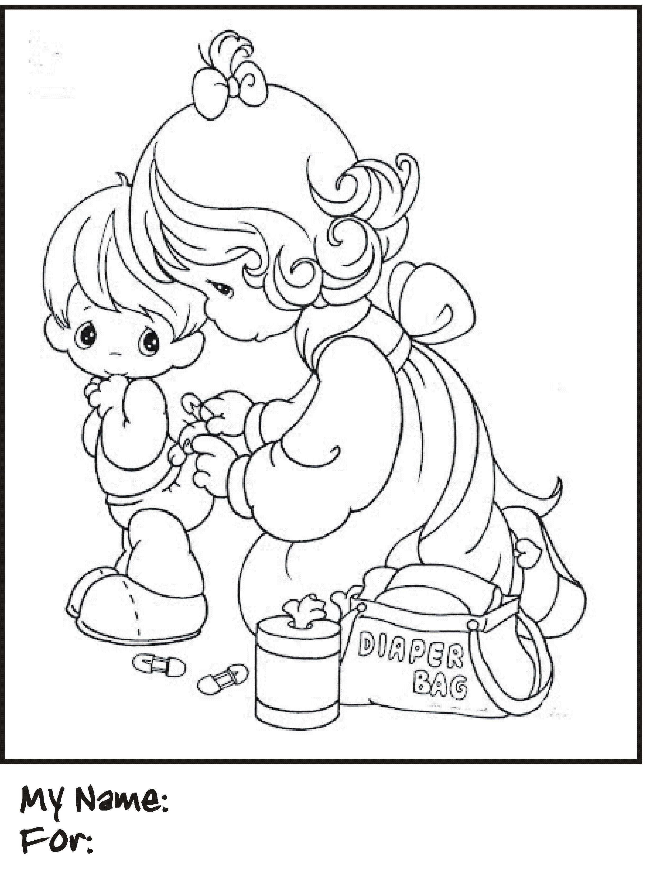 Coloring Pages] : free coloring pages of s precious moments baby ...