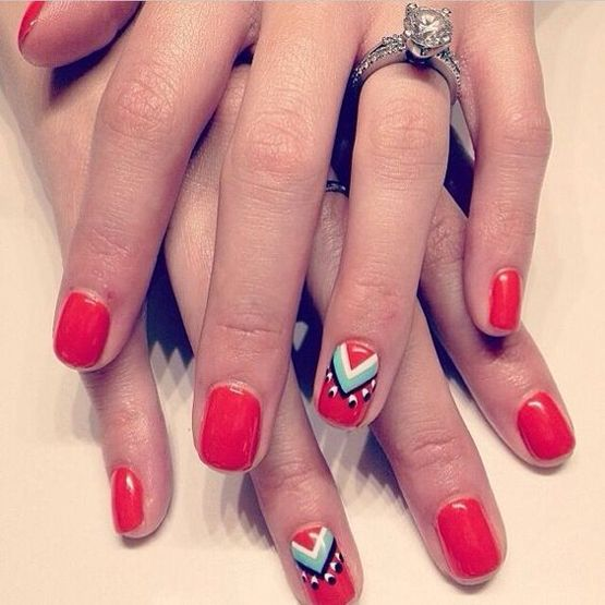 43 Ideas for Valentine Nail Colors | Nail Arts Gallery | Pinterest ...