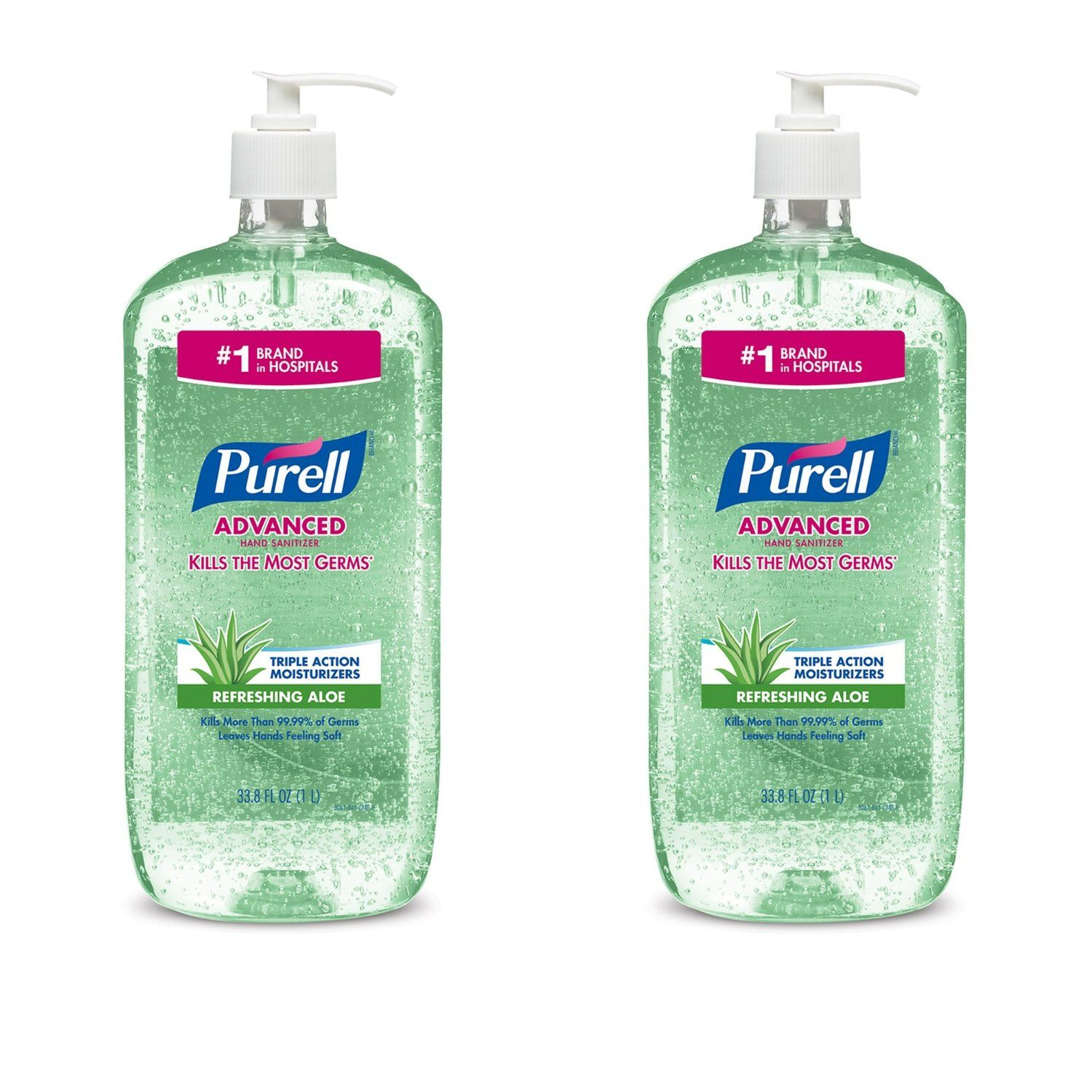Amazon Com Purell Advanced Instant Hand Sanitizer With Aloe 1