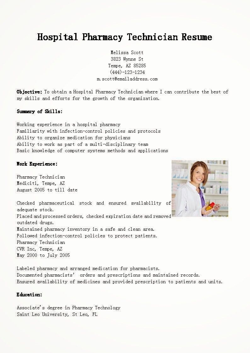 50 New Pharmacy Technician Resume Template in 2020