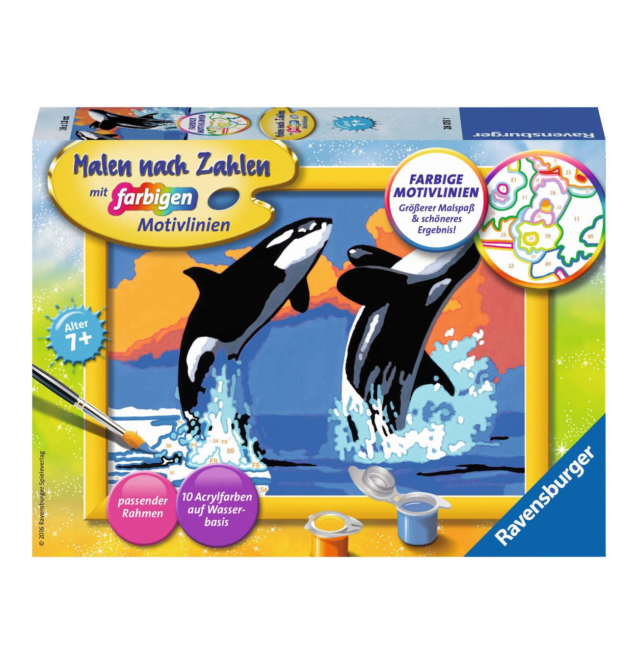 Verspielte Orcas Basteln Bilderrahmen Spass