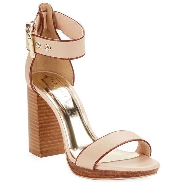 36913772391 Ted Baker Lorno Open-Toe Leather Sandals ( 185) via Polyvore featuring shoes