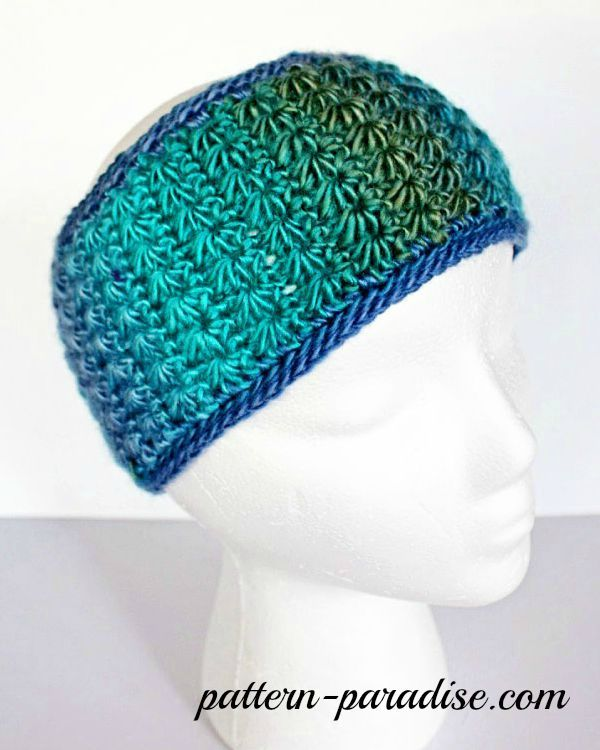 Free Crochet Pattern: Star Stitch Earwarmer | Pinterest ...