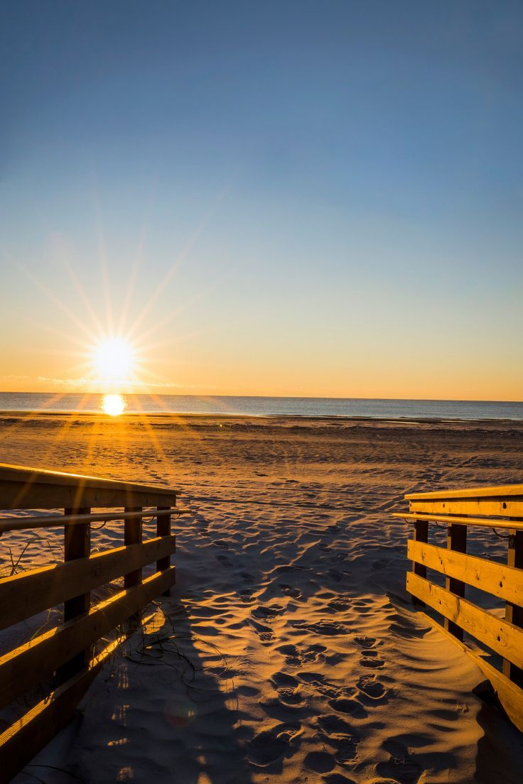 The best way to start the day is hitting the beach, of course! A Hilton Head Island sunrise can't be beat.