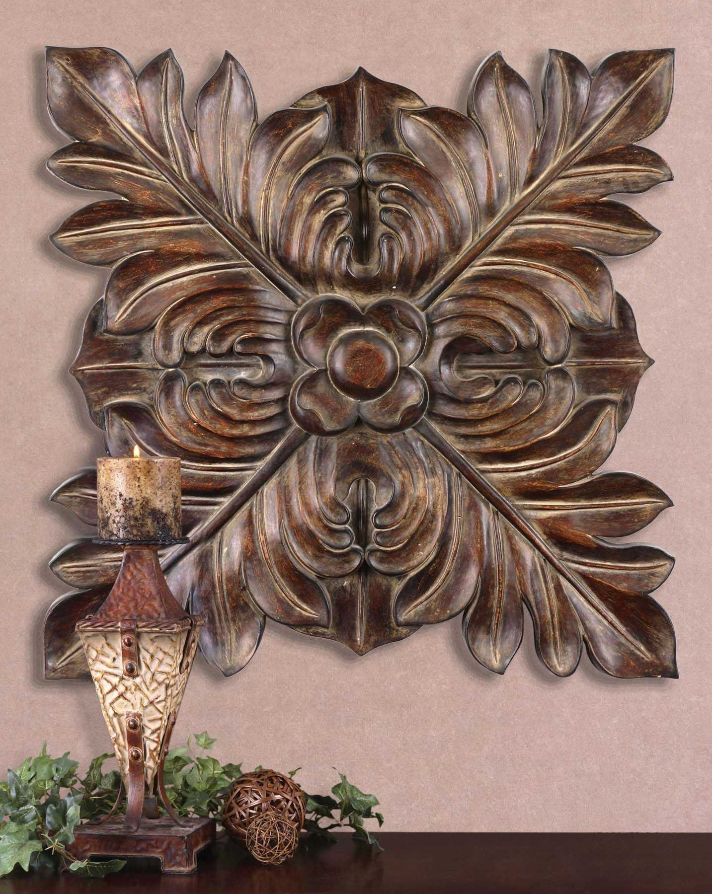 Uttermost Four Leaves Decorative Wall Plaque