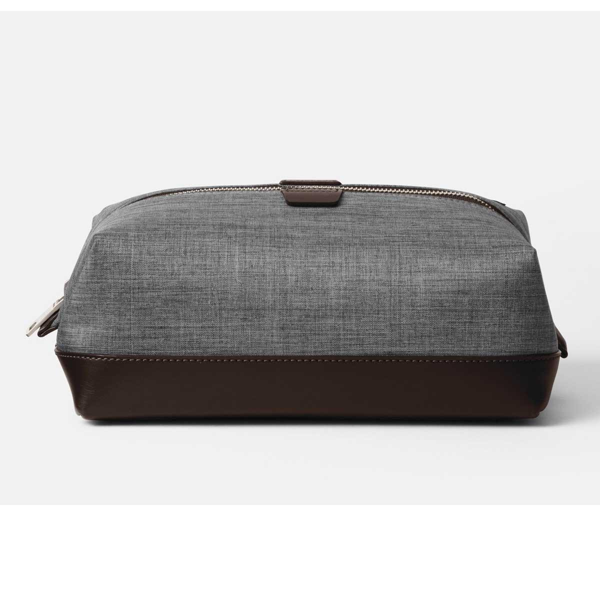 Jack Spade Men's Grey/Black Tech Oxford Travel Kit