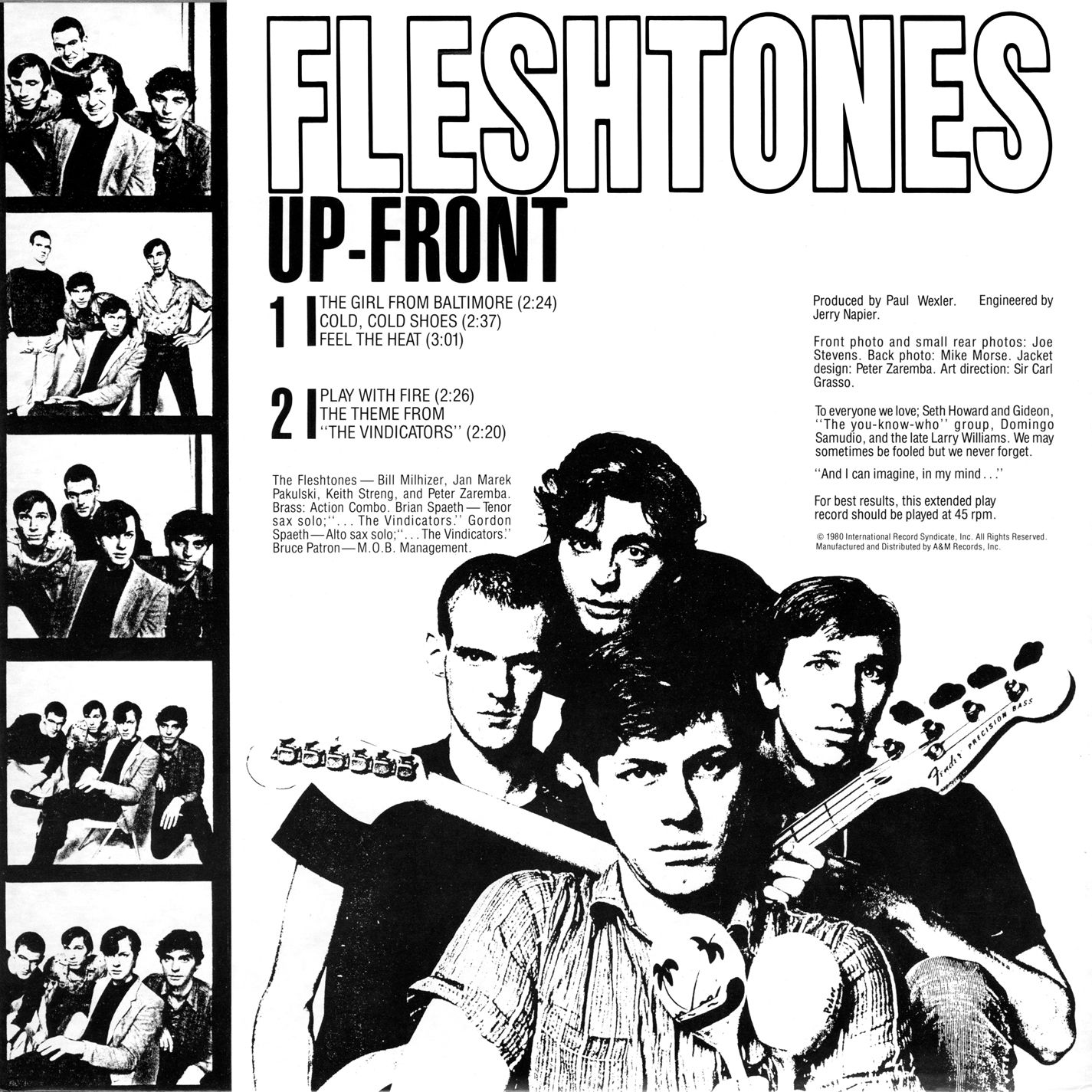 The Fleshtones - Up-Front - Inside. I love the song Col Cold Shoes ...