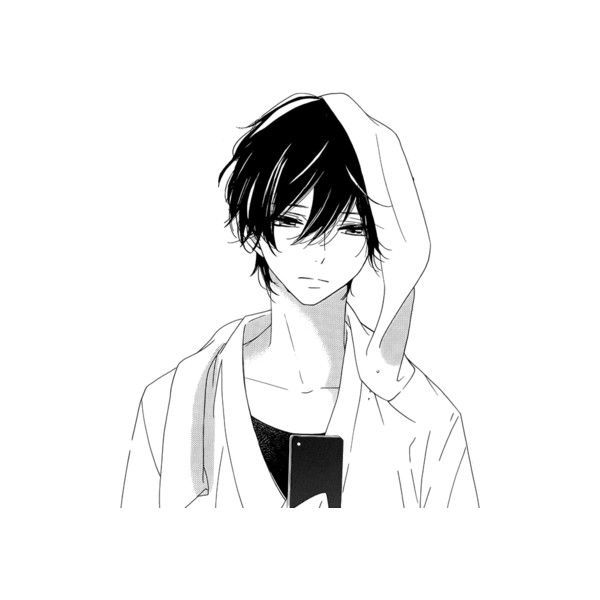 Tumblr Liked On Polyvore Featuring Anime Manga Fillers Fillers Sketches Anime Boy Backgrounds And Effect Anime Monochrome Manga Boy Dark Anime