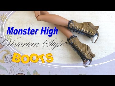 329c4dccb2f99 Making Doll Shoes - How to Make Victorian Style, Monster High, Doll ...