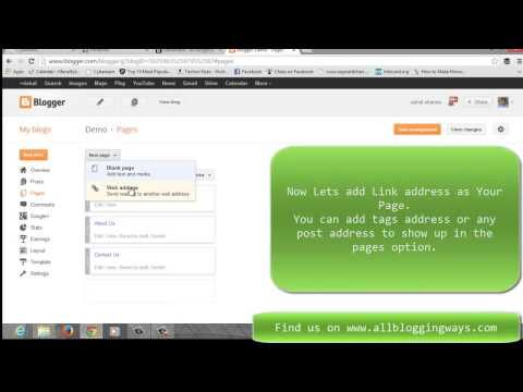 How To add pages In blogger  Full Tutorial
