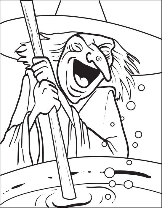 witch coloring page 5 - Witch Coloring Page