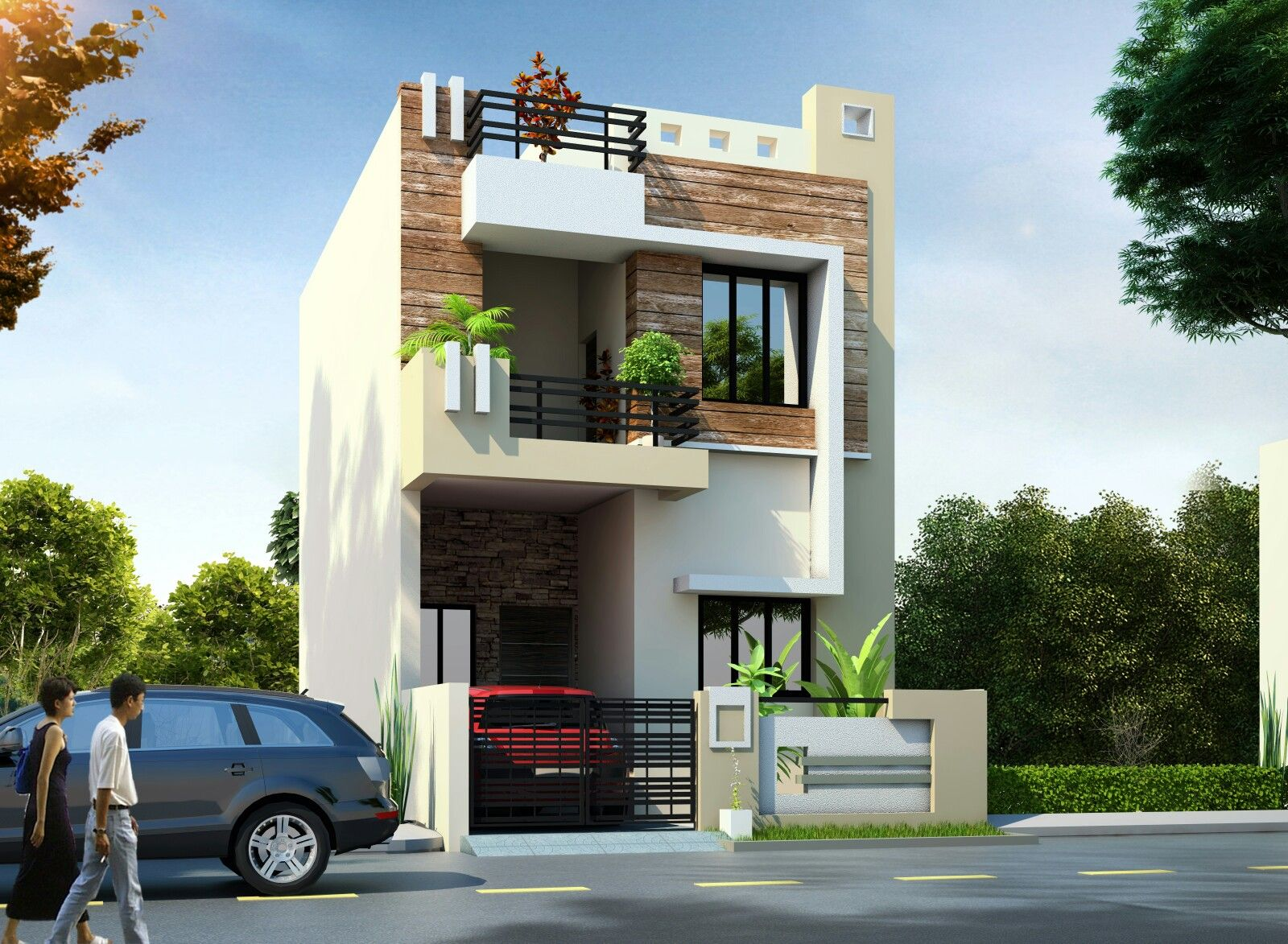 Pin by azher ansari on elevation (With images)   Duplex ...