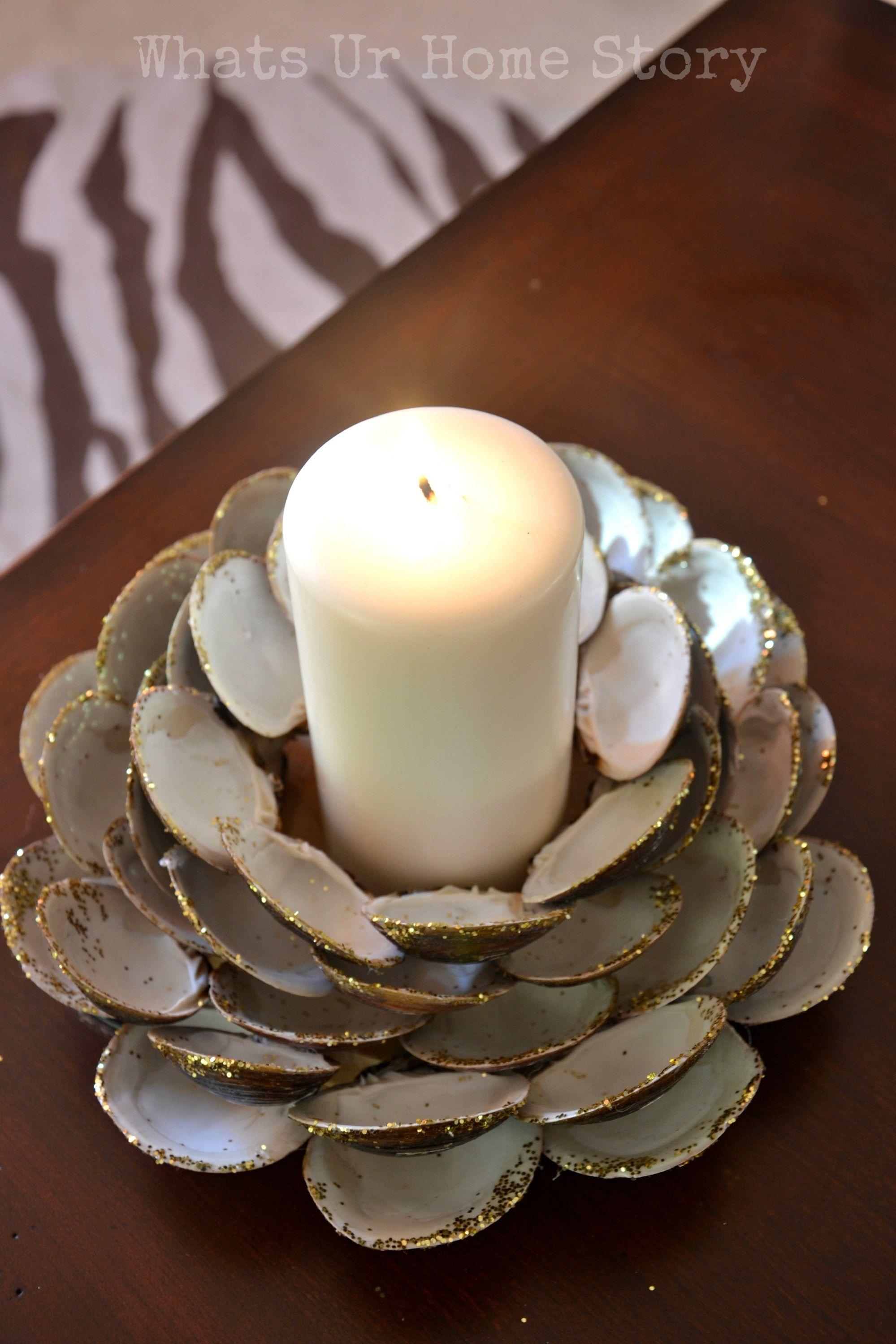 Seashell Candle Holder Seashell Candles Shell Candle Holder