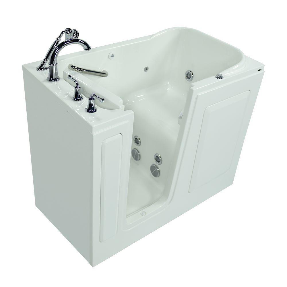 American Standard Exclusive Series 48 In X 28 In Walk In Whirlpool Tub With Quick Drain In White 2848 409 W Whirlpool Tub Small Bathtub Air Bathtub