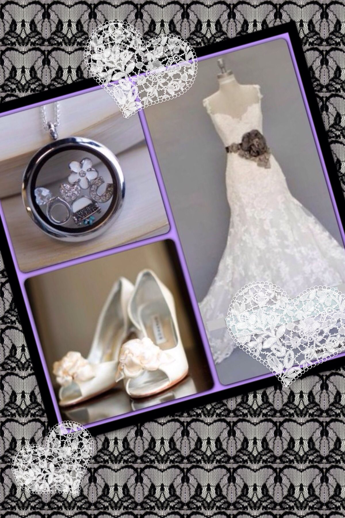 Bridal Origami Owl Living Locket -  how beautiful. Contact me at staceyhlocket@gmail.com. Order at staceyhead.origamiowl.com